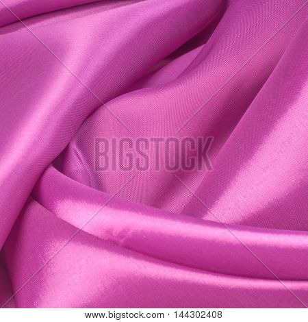 Fabric colors of raspberry. Photography Studio, cotton, closeup