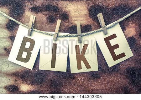 Bike Concept Pinned Stamped Cards On Twine Theme