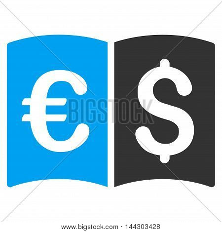 International Catalog icon. Vector style is bicolor flat iconic symbol, blue and gray colors, white background.