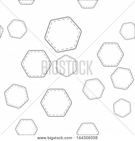 seamless pattern with hexagons for your design