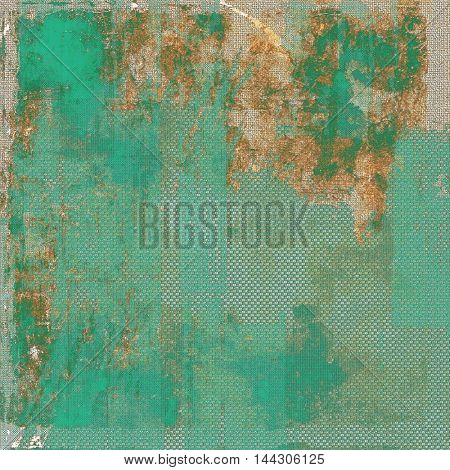 Weathered grunge elements on vintage texture for your design. Aged background with different color patterns: gray; green; blue; yellow (beige); brown; cyan