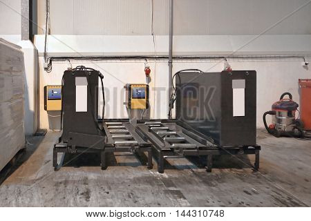 Charging Batteries for Forklift Trucks in Warehouse