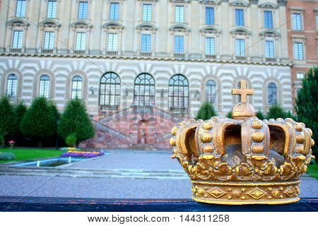 the crown - Royal palace in Swedish capital Stockholm