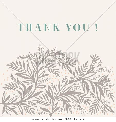 Thank you card floral background design
