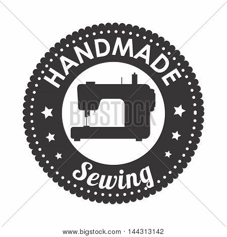 hand made sewing seal icon vector illustration graphic