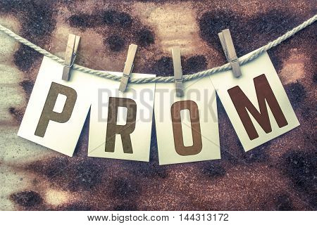 Prom Concept Pinned Stamped Cards On Twine Theme