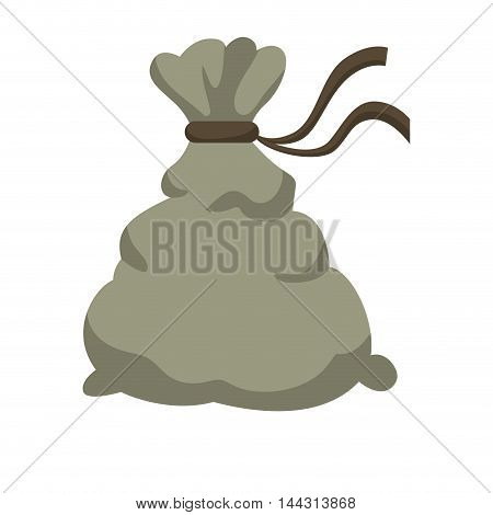 money bag financial item commerce market icon. Flat and Isolated design. Vector illustration