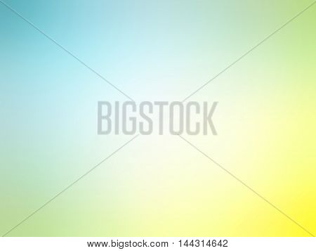 Abstract Gradient Yellow Blue Colored Blurred Background