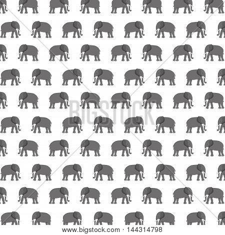 pattern elephant animal tender isolated icon vector illustration design