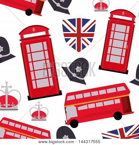 flat design england pattern background icon vector illustration