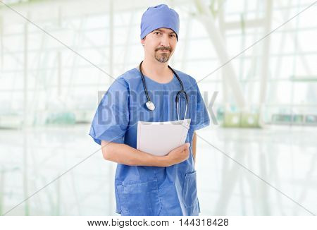 mature male doctor at the hospital