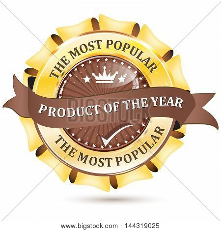 The most popular product of the year - golden brown ribbon for retail business.