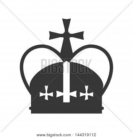 flat design royal crown icon vector illustration