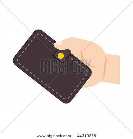wallet money financial item commerce market icon. Flat and Isolated design. Vector illustration