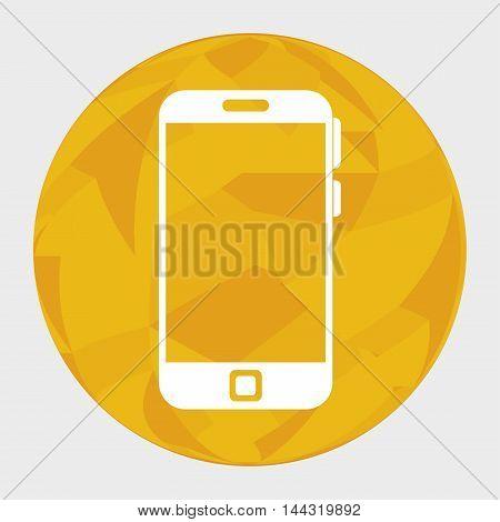 smartphone device circle icon vector illustration graphic