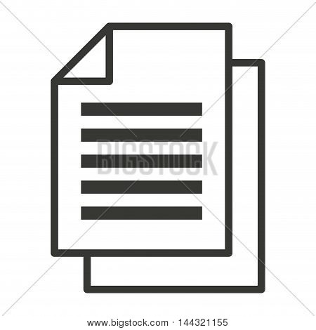 document paper file isolated icon vector illustration design
