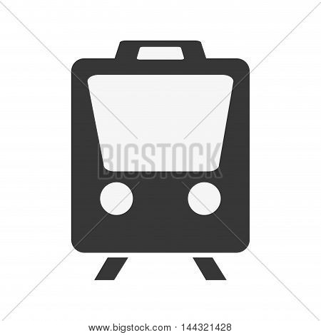 train transportation travel trip silhouette icon. Flat and isolated design. Vector illustration