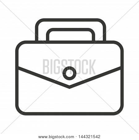 briefcase documents isolated icon vector illustration design
