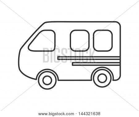 bus travel trip tourism icon. Flat and isolated design. Vector illustration