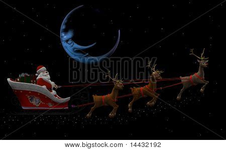Santa Claus and his Reindeers
