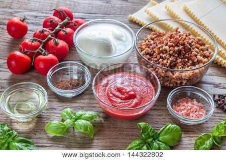 Ingredients For Lasagne