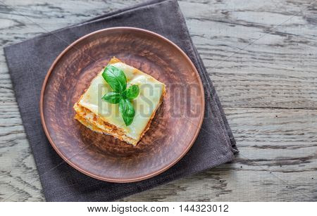 Portion Of Classic Lasagne
