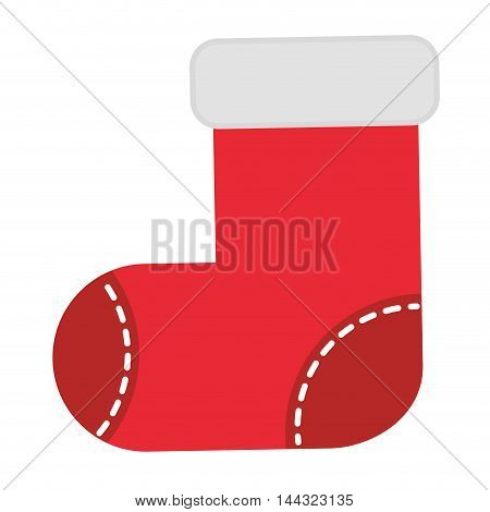 Christmas stockings isolated icon vector illustration design