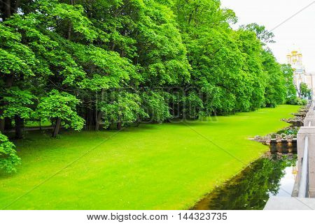 beautiful park in Tsarskoye Selo (St. Petersburg)
