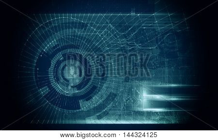 3D rendering, futuristic background