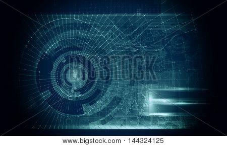 3D rendering, futuristic background
