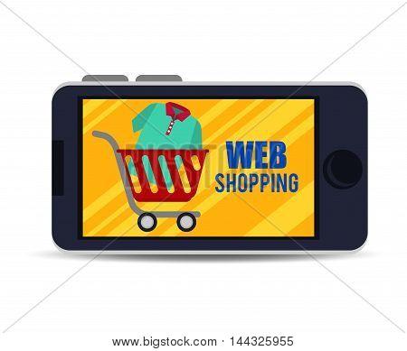 web shopping marketing icon vector illustration graphic