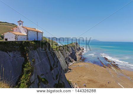 San Telmo Chapel, Zumaia, Gipuzkoa, Basque Country. SPAIN.