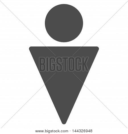 Guy icon. Glyph style is flat iconic symbol with rounded angles, gray color, white background.