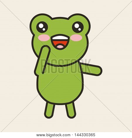 cute toad tender isolated icon vector illustration design