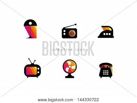 development of creative set of icons of Electronic Technology