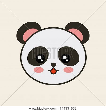 cute bear panda tender isolated icon vector illustration design