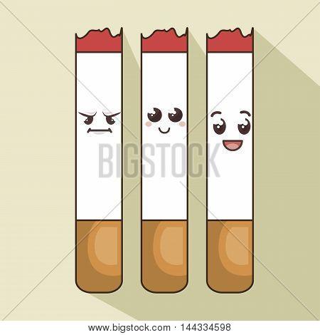 character cigarette comic icon vector illustration graphic