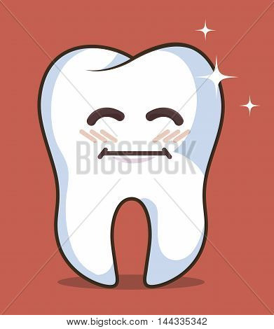 human tooth character icon vector illustration graphic