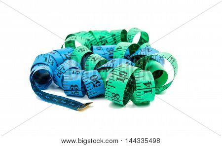 tape measure centimeter on a white background