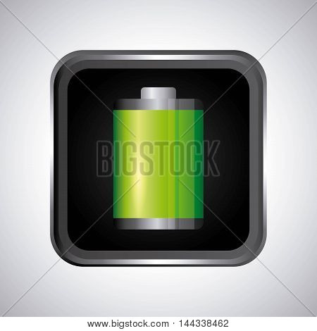 battery level sign classic isolated icon vector illustration design