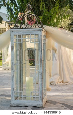 Orthodox church decoration for wedding outside view