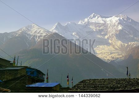Nepalese Himalayas Annapurna Cirquit Track Upper Pisang