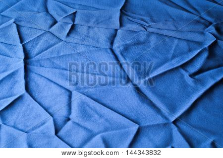 Fabric Texture Blue. Lining Satin. Useful For Photons.