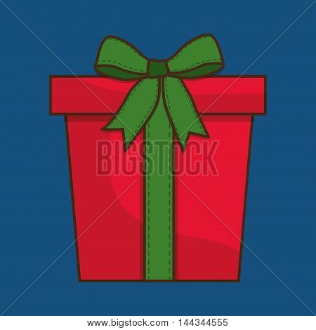 gift  merry christmas decoration celebration con. Colorful and flat design. Vector illustration