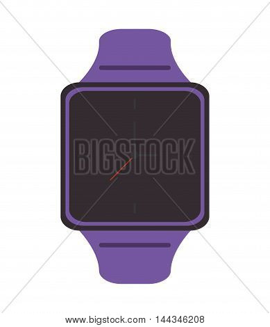 watch gadget time technology icon. Flat and Isolated design. Vector illustration