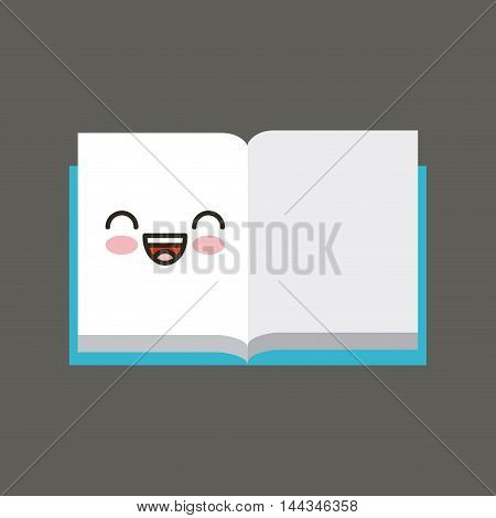 book character kawaii isolated icon vector illustration design