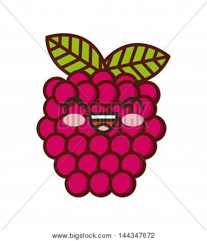 fresh fruit kawaii character isolated icon vector illustration design
