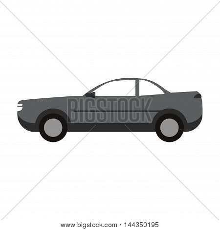 car automobile transport machine icon. Flat and Isolated design. Vector illustration