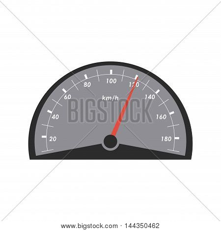 gauge car automobile machine part icon. Flat and Isolated design. Vector illustration