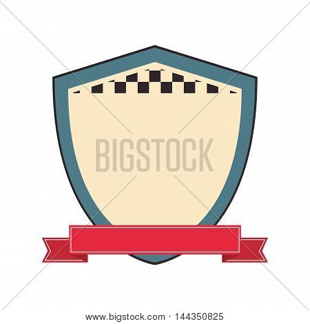 shield label banner square icon. Flat and Isolated design. Vector illustration